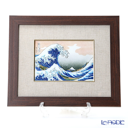 Enamel Cloisonne / Kyoto Shippo Art 'The Great Wave off Kanagawa - Hokusai' Panel / Plaque 40.5x37.5cm
