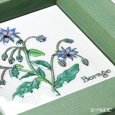 Enamel Cloisonne / Kyoto Shippo Art 'Herbal Collection - Borage' Panel / Plaque 17x17cm
