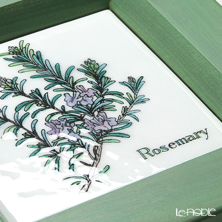 Enamel Cloisonne / Kyoto Shippo Art 'Herbal Collection - Rosemary' Panel / Plaque 17x17cm