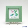 Enamel Cloisonne / Kyoto Shippo Art 'Herbal Collection - Clover' Panel / Plaque 17x17cm