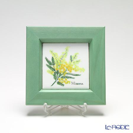 Enamel Cloisonne (Kyoto Shippo Art) Herbal Collection - Mimosa 16.8x16.8cm