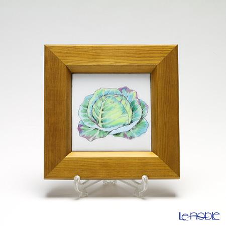 京七宝額(アートSHIPPO) ベジタブル キャベツ 額ナチュラル 16.8×16.8cm