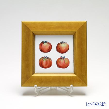 京七宝額(アートSHIPPO) ベジタブル トマト 額ナチュラル 16.8×16.8cm