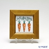 Enamel Cloisonne / Kyoto Shippo Art 'Vegetable Collection - Carrot' Panel / Plaque 17x17cm