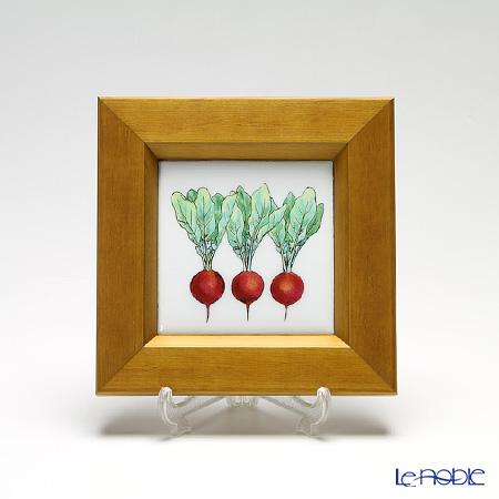 京七宝額(アートSHIPPO) ベジタブル ラディッシュ 額ナチュラル 16.8×16.8cm
