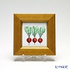 Enamel Cloisonne / Kyoto Shippo Art 'Vegetable Collection - Radish' Panel / Plaque 17x17cm