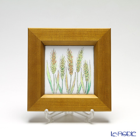 京七宝額(アートSHIPPO) ベジタブル ムギ 額ナチュラル 16.8×16.8cm