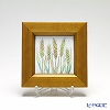 Enamel Cloisonne / Kyoto Shippo Art 'Vegetable Collection - Wheat' Panel / Plaque 17x17cm