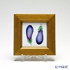 Enamel Cloisonne Vegetable, Eggplant 16.8 x 16.8 cm