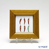 Enamel Cloisonne / Kyoto Shippo Art 'Vegetable Collection - Chilli Pepper' Panel / Plaque 17x17cm