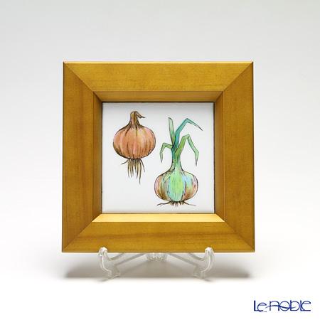 京七宝額(アートSHIPPO) ベジタブル タマネギ 額ナチュラル 16.8×16.8cm