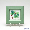 Enamel Cloisonne / Kyoto Shippo Art 'Herbal Collection - Wild Strawberry' Panel / Plaque 17x17cm
