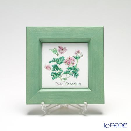 京七宝額(アートSHIPPO) ハーブ ローズゼラニウム 額グリーン 16.8×16.8cm