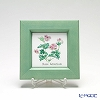 Enamel Cloisonne / Kyoto Shippo Art 'Herbal Collection - Rose Geranium' Panel / Plaque 17x17cm