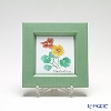 Enamel Cloisonne / Kyoto Shippo Art 'Herbal Collection - Nasturtium' Panel / Plaque 17x17cm