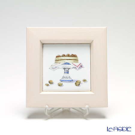Enamel Cloisonne / Kyoto Shippo Art 'Kitchen Collection - Cake' Panel / Plaque 17x17cm