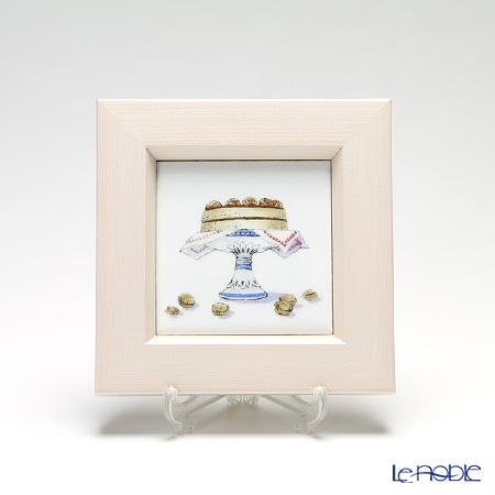 京七宝額(アートSHIPPO) キッチン ケーキ 額アイボリー 16.8×16.8cm