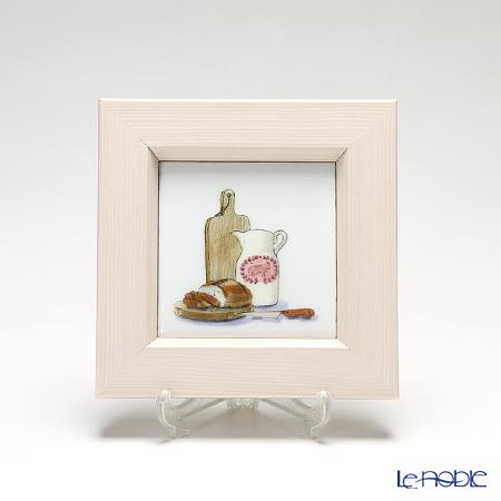 京七宝額(アートSHIPPO) キッチン パン 額アイボリー 16.8×16.8cm