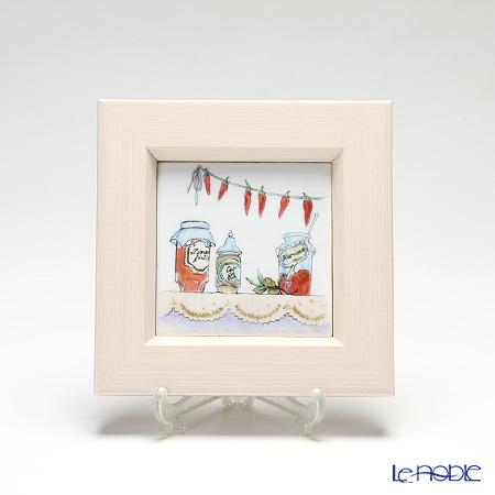 京七宝額(アートSHIPPO) キッチン ジャム 額アイボリー 16.8×16.8cm