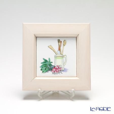 京七宝額(アートSHIPPO) キッチン キッチンツール 額アイボリー 16.8×16.8cm