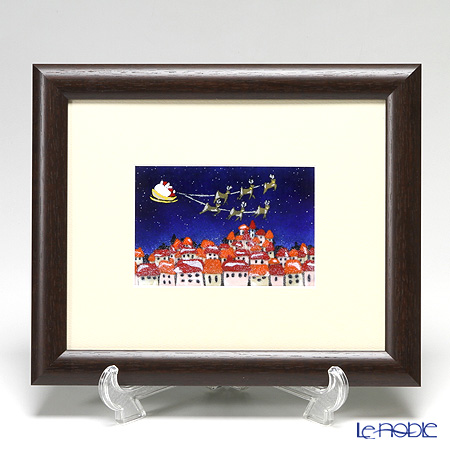 京七宝額(アートSHIPPO) サンタ 29.5×24.5cm