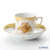 Herend Chinese Bouquet Yellow Fishnet / Apponyi Jaune Ecaille AJ-EJ00707-0-00 Mocha Cup & Saucer 150ml