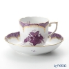 Herend Apponyi / Chinese Bouquet AL-EL00707-0-00 Lilac Scale Mocha Cup & Saucer 150ml
