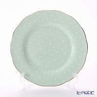Royal Albert 'Polka Rose' Green Vintage Salad Plate 20.5cm