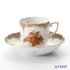 Herend Apponyi / Chinese Bouquet AM-EM00707-0-00 Marron Scale Mocha Cup & Saucer 150ml