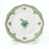Herend Chinese Bouquet Green Fishnet / Apponyi Vert Ecaille AV-EV 00517-0-00 Plate 19cm