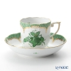 Herend Apponyi / Chinese Bouquet AV-V00707-0-00 Green Scale Mocha Cup & Saucer 150ml