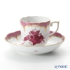 Herend Chinese Bouquet Pink Fishnet / Apponyi Purple Ecaille AP-EP 00707-0-00 Mocha Cup & Saucer 150ml