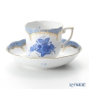 Herend Apponyi / Chinese Bouquet AB-EB1/00707-0-00 Blue Scale Mocha Cup & Saucer 150ml