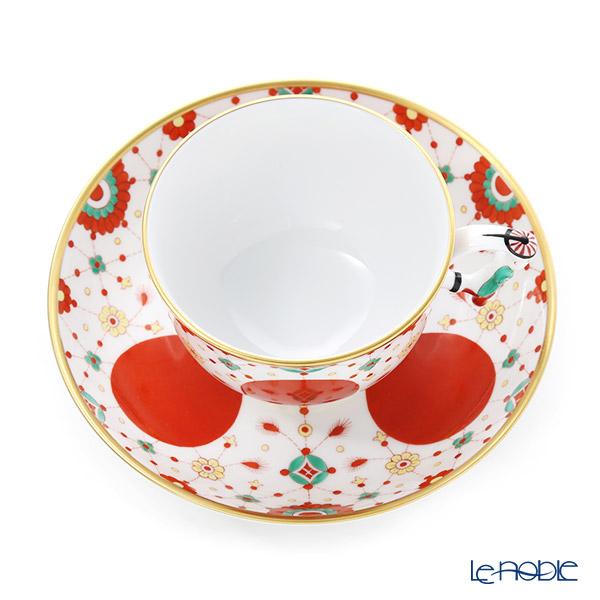 Herend 'Jewelry Bunch' FBI 03364-0-21 Tea Cup & Saucer (Mandarin handle / openwork) 200ml