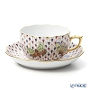 Herend 'Felicity (Butterfly) Multicolor Fish scale / Vieux Herend Special' VHSP18VT 20724-0-00 Tea Cup & Saucer 200ml