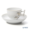 Herend 'Bamboo' Black & Gold SAJU 03464-0-91 Tea Cup & Saucer (Bamboo handle) 150ml