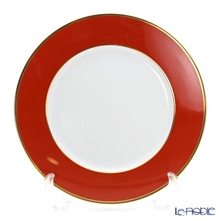 アウガルテン(AUGARTEN) レッド(2825F) ゴールドリム(細) チャージャープレート 28cm(001シューベルトシェイプ)