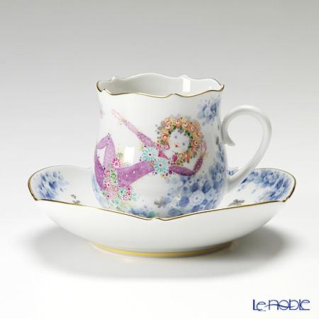 マイセン(Meissen) ミッドサマー・ナイトドリーム 680691/23582 コーヒーカップ&ソーサー 150cc Motiv No.9