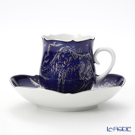 マイセン(Meissen) コバルトプラチナ 681790/23582 コーヒーカップ&ソーサー 150cc Motif1