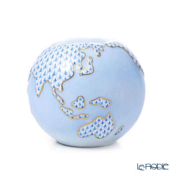 ヘレンド VHB 15725-0-00 地球儀 8.5cm ブルー