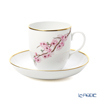 Herend '4 Seasons - Spring (Cherry Blossom)' QASA1 02725-0-00 Coffee Cup & Saucer 320ml