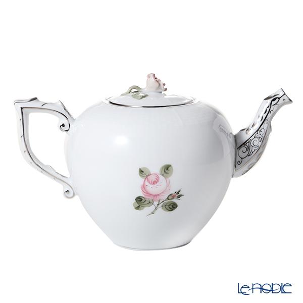 Herend 'Vienna Rose Platinum Simple / Vieille Rose de Herend' VGRS-PT 00606-0-09 Tea Pot (Rose knob) 800ml