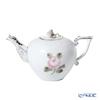 Herend 'Vienna Rose Platinum Simple / Vieille Rose de Herend' VGRS-PT 00608-0-09 Tea Pot (Rose knob) 400ml