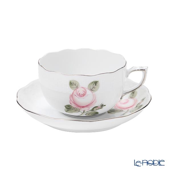 ヘレンド ウィーンのバラ プラチナシンプル VGRS-PT ティーカップ&ソーサー 200ml 00724-0-00
