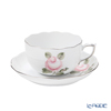 Herend 'Vienna Rose Platinum Simple / Vieille Rose de Herend' VGRS-PT 00724-0-00 Tea Cup & Saucer 200ml