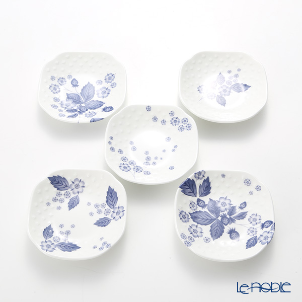 Wedgwood Strawberry Bloom Indigo Soy Dish 9.3cm (set of 5)
