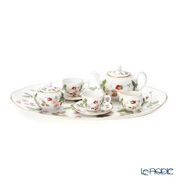 Wedgwood Wild Strawberry Al Fresco Miniature Tea Set