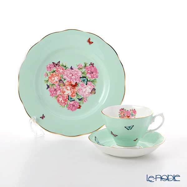 Royal Albert x Miranda Kerr 'Blessings' Green Tea Cup & Saucer, Plate (set of 2 for 1 person)
