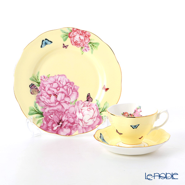 Royal Albert x Miranda Kerr 'Joy' Yellow Tea Cup & Saucer, Plate (set of 2 for 1 person)
