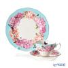 Royal Albert x Miranda Kerr 'Devotion' Blue Tea Cup & Saucer, Plate (set of 2 for 1 person)